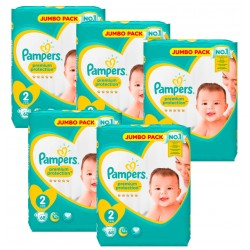 Maxi Pack 340 Couches Pampers New Baby - Premium Protection taille 2