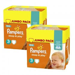 Giga Pack 410 Couches Pampers Sleep & Play taille 3