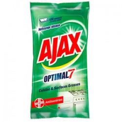 Ajax Lingettes 50 pièces Optimal 7 Cuisine & Surfaces Grasses sur 123 Couches