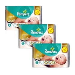 Giga Pack 190 Couches Pampers New Baby - Premium Care taille 2