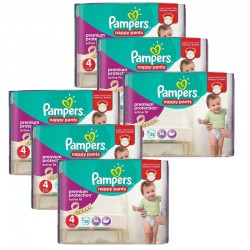 Maxi Pack 224 Couches Pampers Active Fit - Pants taille 4