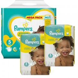 Maxi Pack 315 Couches Pampers New Baby - Premium Protection taille 5 sur 123 Couches