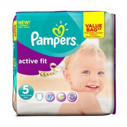 Pack 47 Couches Pampers Active Fit taille 5 sur 123 Couches