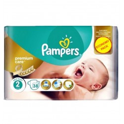 Pack 38 Couches Pampers New Baby - Premium Care taille 2 sur 123 Couches
