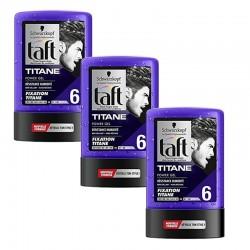 Lot de 3 Taft Gel 300 ml Titane N°6 Tube sur 123 Couches