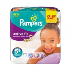 Pack 32 Couches Pampers Active Fit - Premiun Protection taille 5+