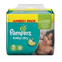 Pack 72 Couches Pampers Baby Dry taille 5