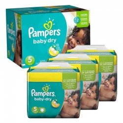 Maxi Giga Pack 288 couches Pampers Baby Dry