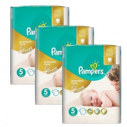 Maxi Giga Pack 208 Couches Pampers Premium Care - Prima taille 5