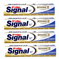 Lot 4 Dentifrices Signal Integral 8 Complet sur 123 Couches