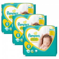 Giga Pack 72 Couches Pampers New Baby taille 0