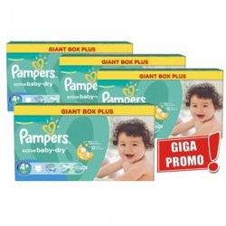 Maxi Pack 576 Couches Pampers Active Baby Dry taille 4+