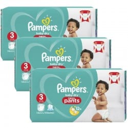 Giga Pack 130 Couches Pampers Baby Dry Pants taille 3 sur 123 Couches