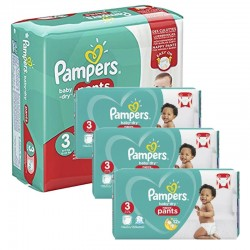 Maxi Pack 390 Couches Pampers Baby Dry Pants taille 3