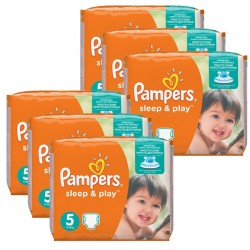 Giga Pack 232 Couches Pampers Sleep & Play taille 5 sur 123 Couches