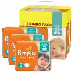 Giga Pack 348 Couches Pampers Sleep & Play taille 5 sur 123 Couches