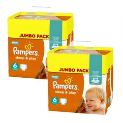 Giga Pack 210 Couches Pampers Sleep & Play taille 5