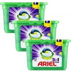 Lot de 3 Ariel Pods 16 Colour & Style 3in1 (432 gr) sur 123 Couches