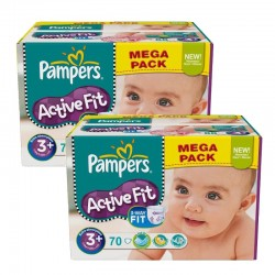 Giga Pack 140 Couches Pampers Active Fit sur 123 Couches