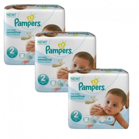 180 Couches Pampers New Baby Sensitive taille 2 sur 123 Couches
