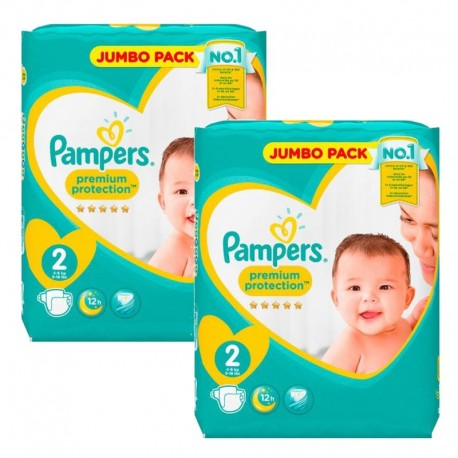 136 Couches Pampers new baby - premium protection taille 2 sur 123 Couches