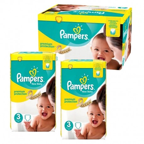 150 Couches Pampers premium protection taille 3 sur 123 Couches