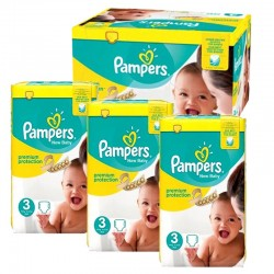 Mega Pack 300 Couches Pampers premium protection taille 3