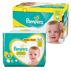 Mega Pack 117 Couches Pampers new baby - premium protection taille 4