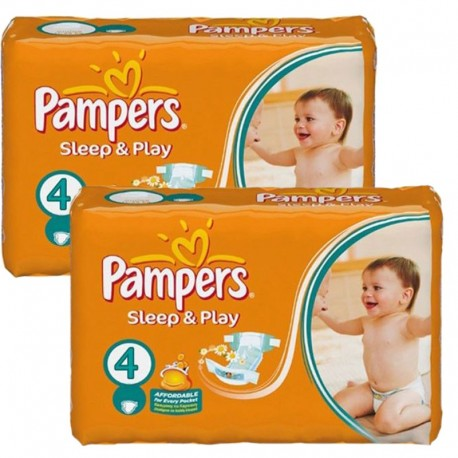 Maxi Pack 108 Couches Pampers Sleep & Play taille 4 sur 123 Couches