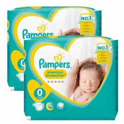 Pack 48 Couches Pampers new baby - premium protection taille 0 sur 123 Couches