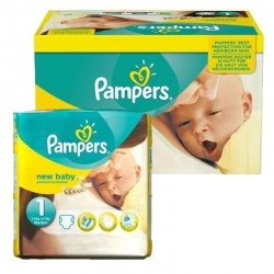 Maxi Pack 92 Couches Pampers new baby - premium protection taille 1