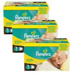 Pack Jumeaux 506 couches Pampers New Baby Premium Protection