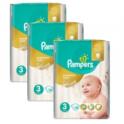 Maxi Pack 60 Couches Pampers Premium Care - Prima taille 3 sur 123 Couches