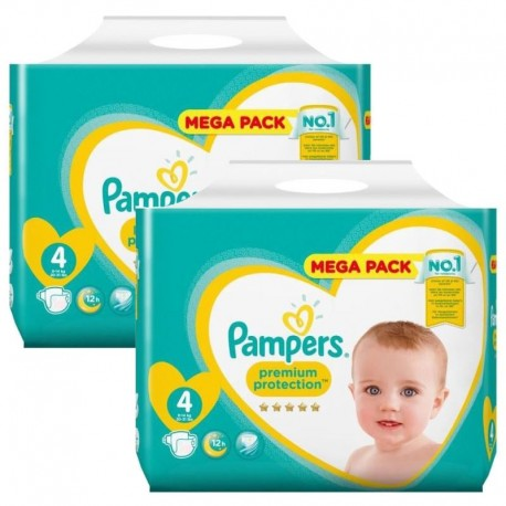 Giga Pack 156 Couches Pampers new baby - premium protection taille 4 sur 123 Couches