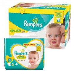 Maxi Pack 390 Couches Pampers new baby - premium protection taille 4 sur 123 Couches