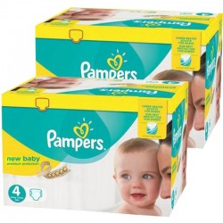 Giga Pack Jumeaux 585 couches Pampers New Baby Premium Protection