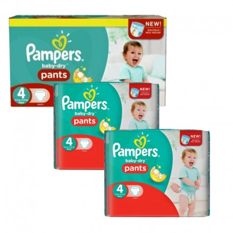 Pack 188 couches Pampers Baby Dry Pants sur 123 Couches