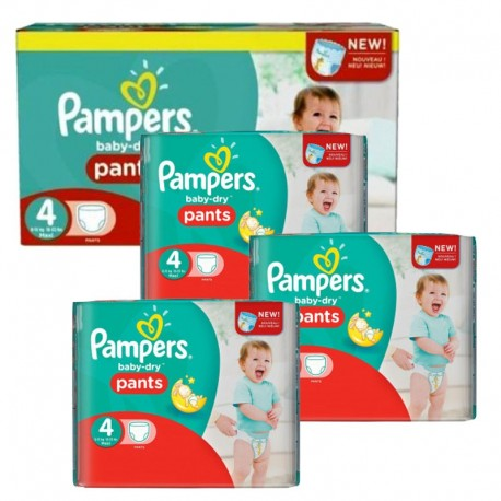 Mega Pack 376 couches Pampers Baby Dry Pants sur 123 Couches