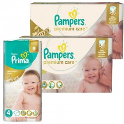 Giga Pack 320 Couches Pampers Premium Care - Prima taille 4 sur 123 Couches