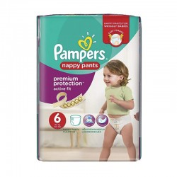 Pack 16 Couches Pampers Active Fit - Pants taille 6 sur 123 Couches