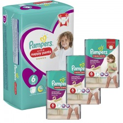 Maxi Pack 140 Couches Pampers Active Fit - Pants taille 6