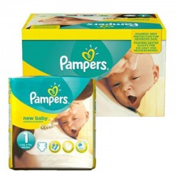 Pack 96 Couches Pampers new baby - premium protection taille 1