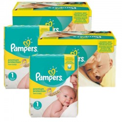 Maxi Mega Pack 384 couches Pampers New Baby Premium Protection sur 123 Couches