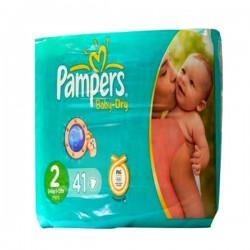 Pack d'une quantité de 41 Couches Pampers Baby Dry taille 2 sur 123 Couches