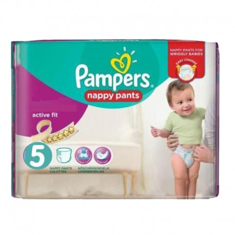 Pack 40 Couches Pampers Active Fit Pants taille 5 sur 123 Couches