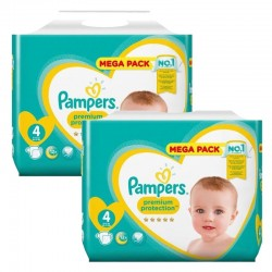 Giga Pack 164 Couches Pampers New Baby Premium Protection taille 4 sur 123 Couches