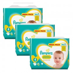 Maxi Pack 246 Couches Pampers New Baby Premium Protection taille 4 sur 123 Couches