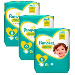 Giga Pack 148 Couches Pampers New Baby Premium Protection taille 6 sur 123 Couches