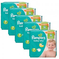 Maxi Pack 210 Couches Pampers Baby Dry taille 7 sur 123 Couches