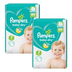 Mega Pack 144 Couches Pampers Baby Dry taille 7 sur 123 Couches